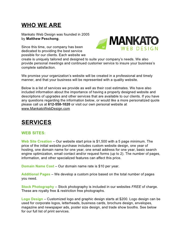WHO WE ARE Mankato Web Design was founded in 2005 by Matthew Peschong.  Since this time, our company has been dedicated to...