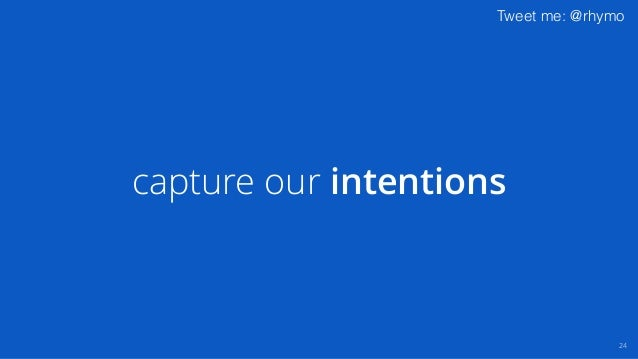 Tweet me: @rhymo capture our intentions 24