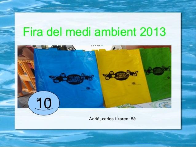 Fira del medi ambient 2013Adrià, carlos i karen. 5è10