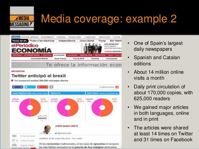 a study of comparison media coverage Public evaluations of the news media: 1985-2009  when coverage of 9/11 and terrorism boosted the press's positive ratings in the current survey, 63% say news.