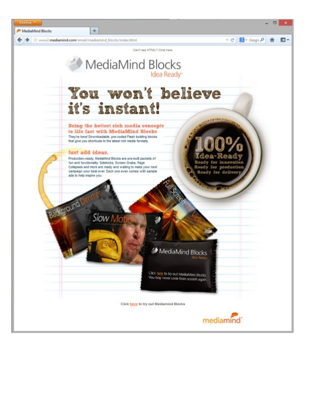MediaMind Blocks - Marketing material