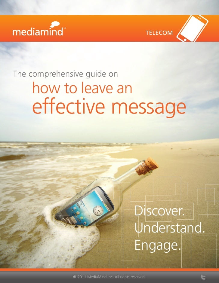 TELECOMThe comprehensive guide on    how to leave an    effective message                                                 ...