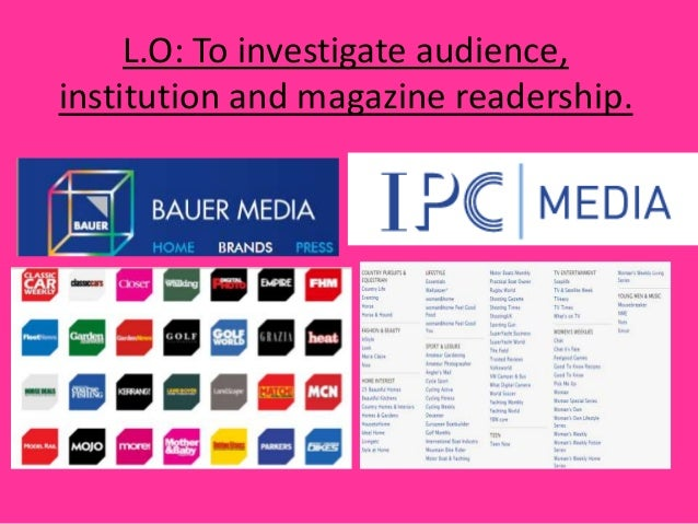 L.O: To investigate audience,institution and magazine readership.