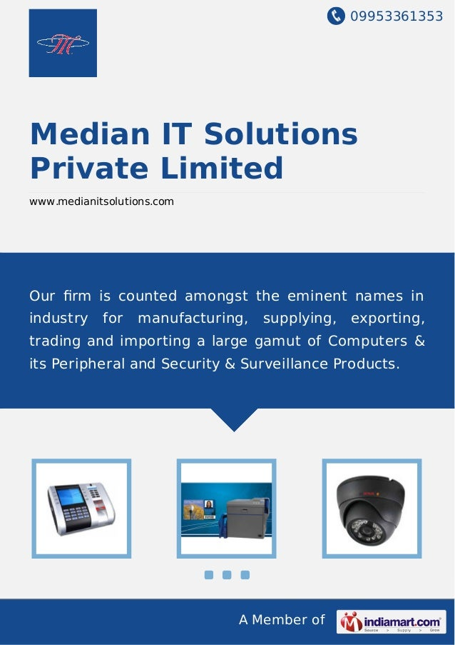 09953361353 A Member of Median IT Solutions Private Limited www.medianitsolutions.com Our firm is counted amongst the emine...