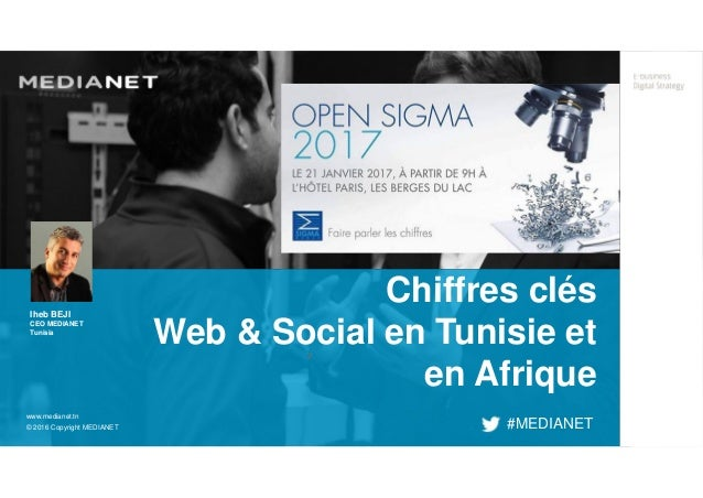 ² www.medianet.tn © 2016 Copyright MEDIANET Chiffres clés Web & Social en Tunisie et en Afrique #MEDIANET Iheb BEJI CEO ME...