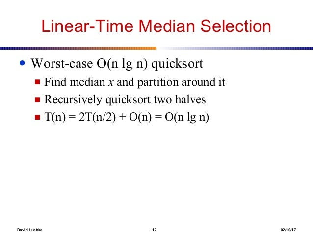 Medians and order statistics 17 ccuart Images