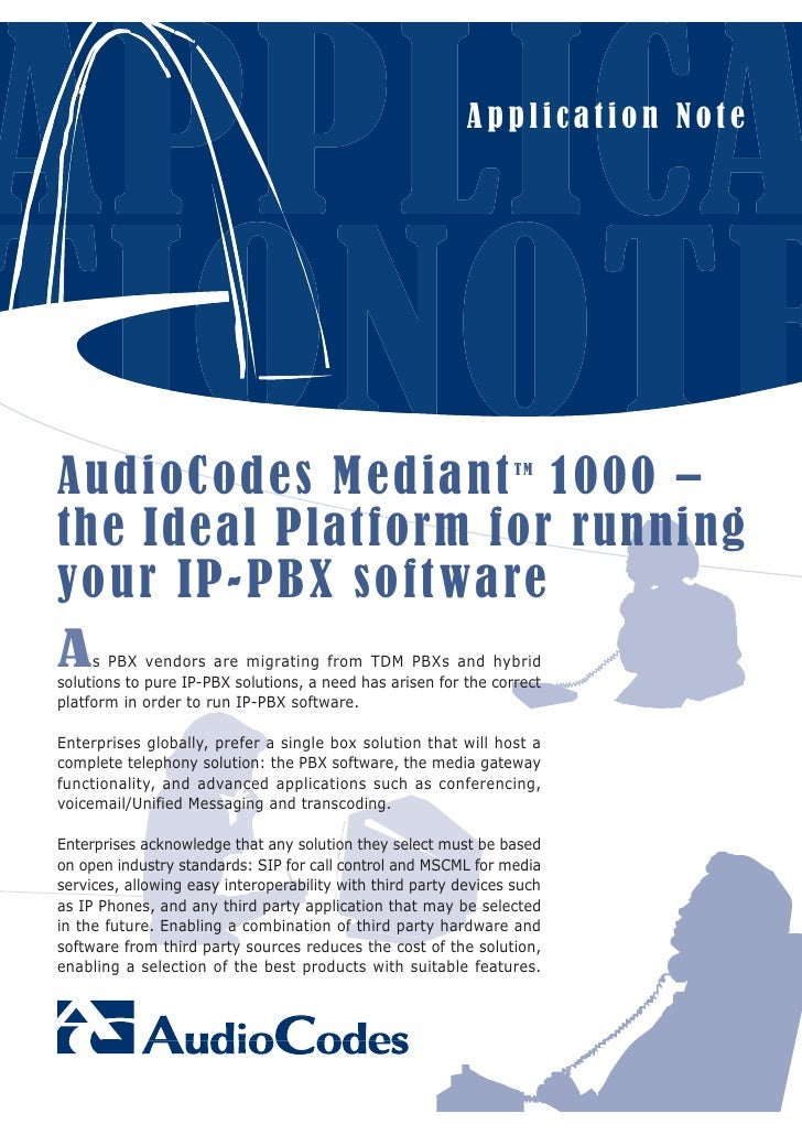 Application Note     A u dio Cod e s M e d ian t 1 0 0 0 –                             TM    the Ideal Platform for runnin...