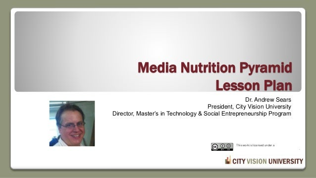 Media Nutrition Pyramid Lesson Plan Dr. Andrew Sears President, City Vision University Director, Master's in Technology & ...