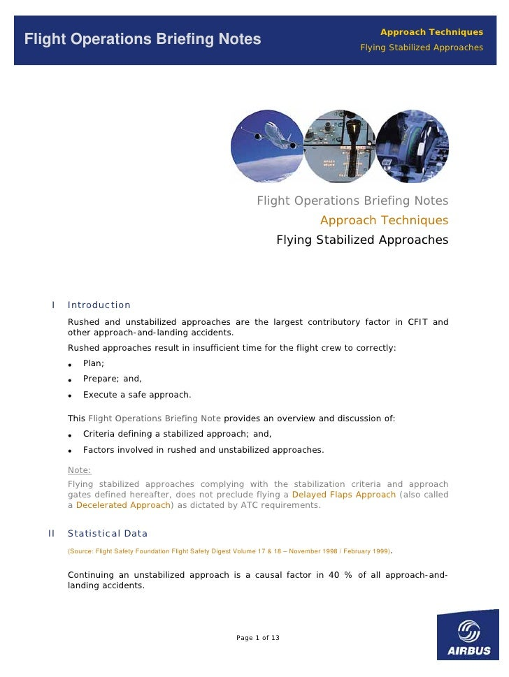 Approach Techniques Flight Operations Briefing Notes                                                                    Fl...