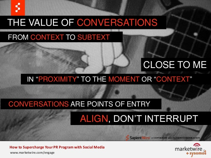 """THE VALUE OF CONVERSATIONs<br />   FROM CONTEXT TO SUBTEXT<br />CLOSE TO ME<br />  IN """"PROXIMITY""""TO THE MOMENT OR """"CONTEXT..."""