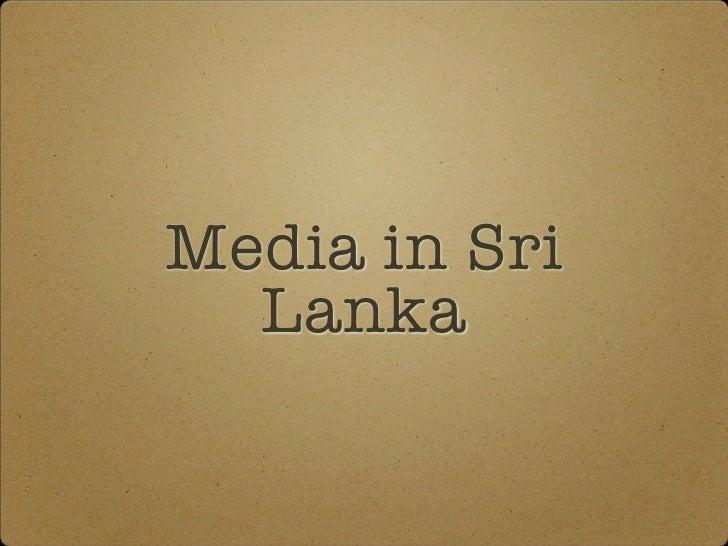 Media in Sri   Lanka