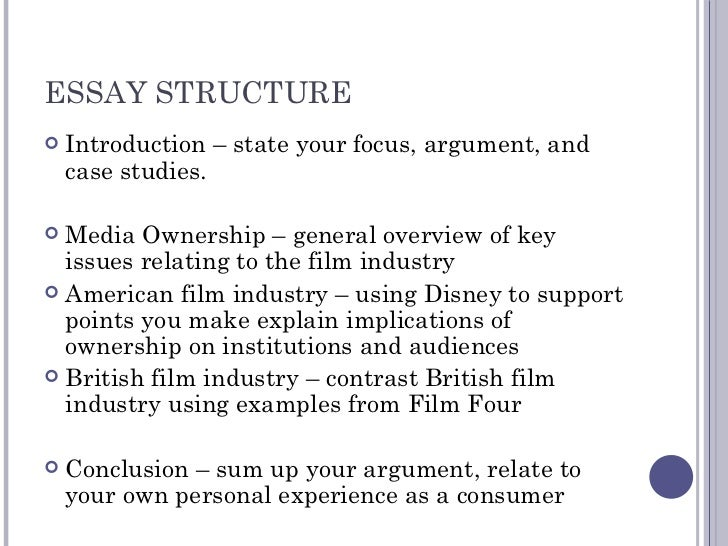 media ownership revision essay structure