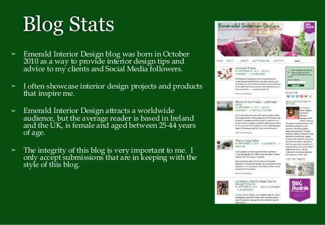 Blog Stats Emerald Interior Design