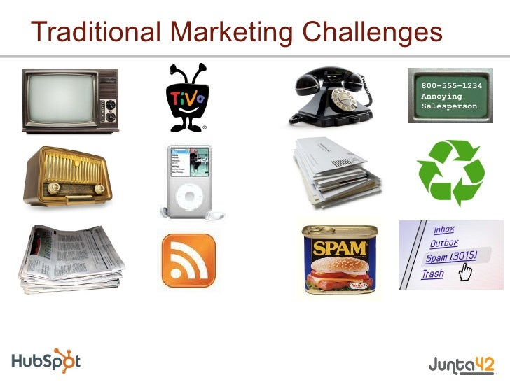 Traditional Marketing Challenges 800-555-1234 Annoying Salesperson
