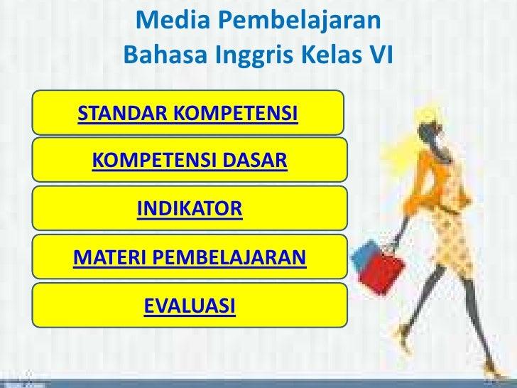 Media Pembelajaran Bahasa Inggris Untuk Kelas Vi Sd