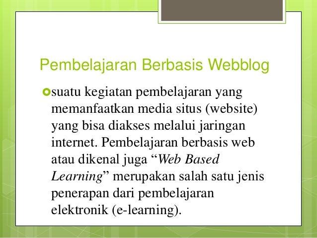Media Pembelajaran Berbasis Web Blog