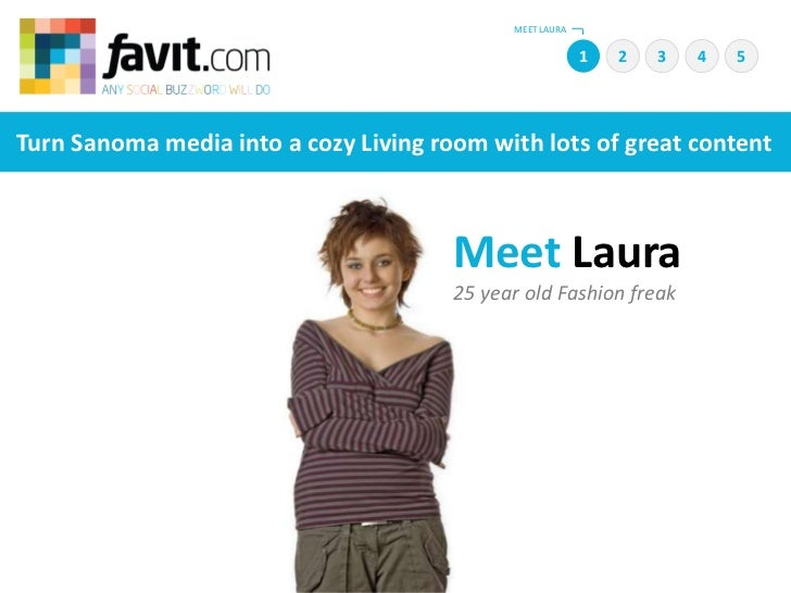 MEET LAURA<br />1<br />2<br />4<br />5<br />3<br />Turn Sanoma media into a cozy Living room with lots of great content   ...