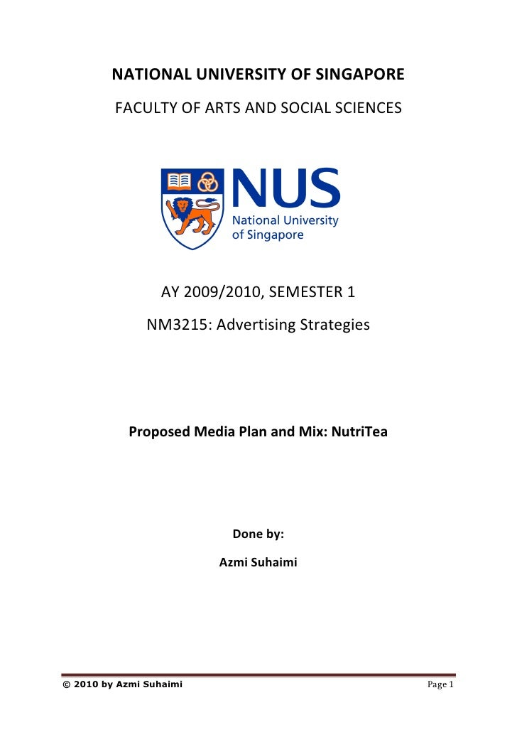 NATIONAL UNIVERSITY OF SINGAPORE          FACULTY OF ARTS AND SOCIAL SCIENCES                       AY 2009/2010, SEMESTER...