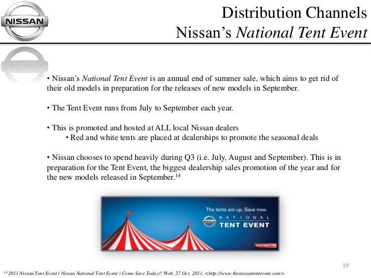 19. Distribution Channels Nissanu0027s National Tent Event ...  sc 1 st  SlideShare & Media Plan Final