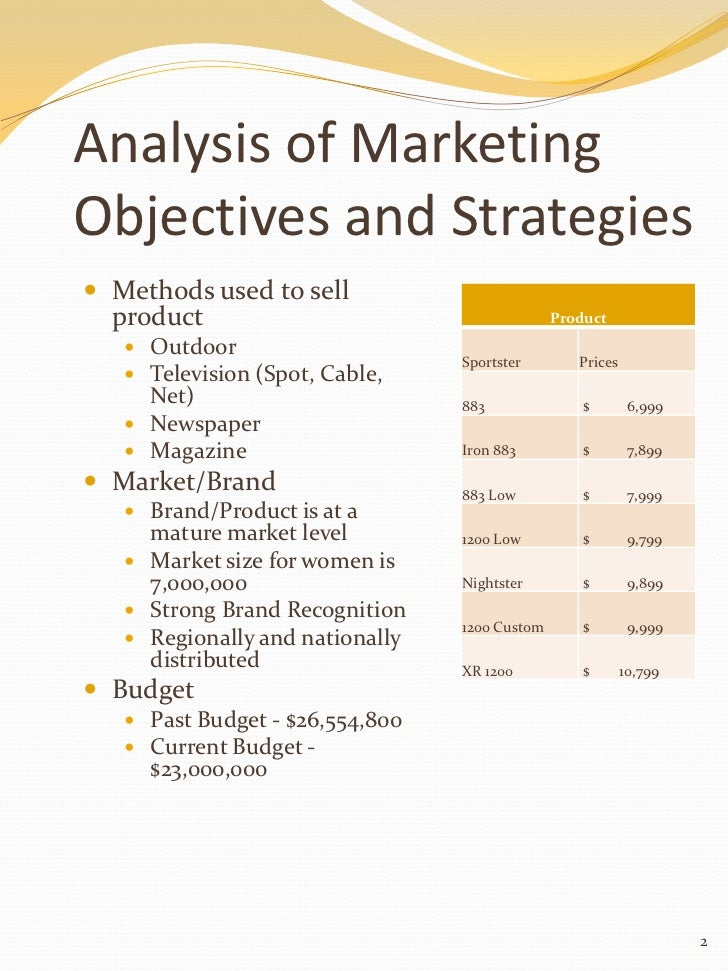 harley davidson goals and objectives