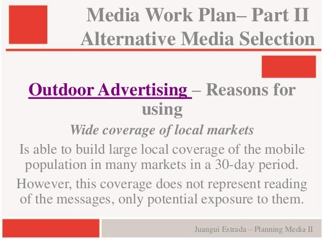 Media Planning and Selection Process for Advertising
