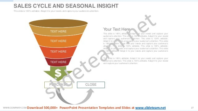 WWW.COMPANY.COM 27 CLOSE TEXT HERE TEXT HERE TEXT HERE TEXT HERE PURCHASE This slide is 100% editable. Adapt it to your ne...