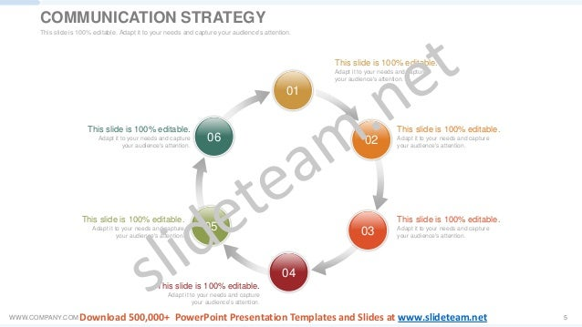 WWW.COMPANY.COM 5 01 02 03 04 05 06 This slide is 100% editable. Adapt it to your needs and capture your audience's attent...