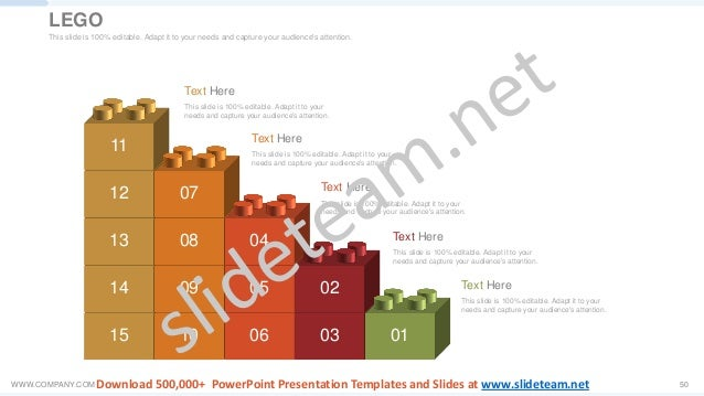 WWW.COMPANY.COM 50 15 14 13 12 11 10 09 08 07 06 05 04 03 02 01 Text Here This slide is 100% editable. Adapt it to your ne...