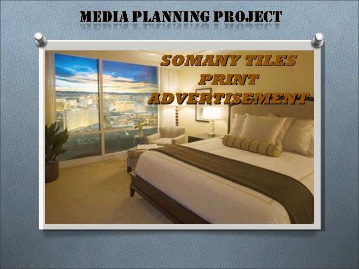 SOMANY TILES PRINT ADVERTISEMENT