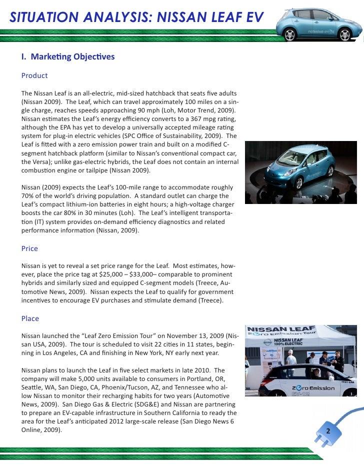 Media Plan Nissan Leaf