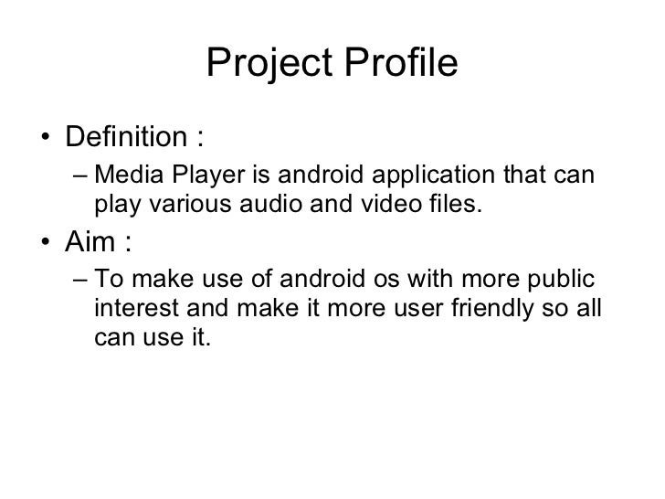 Android Media player Slide 3