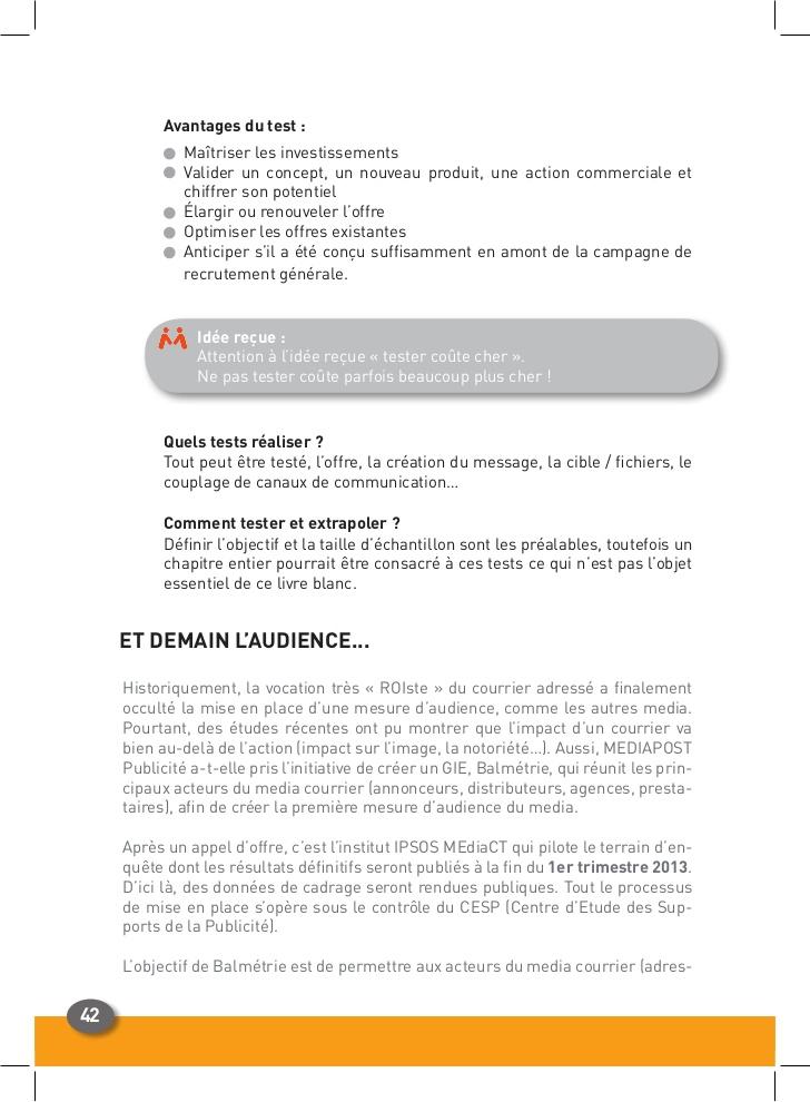 Exceptionnel Réussir un courrier publicitaire adressé ZH44