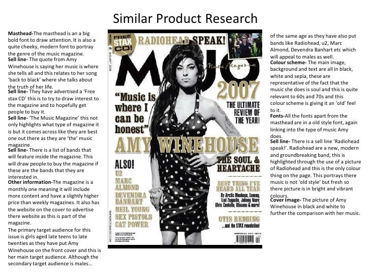 Similar Product Research<br />Masthead-The masthead is an a big bold font to draw attention. It is also a quite cheeky, mo...
