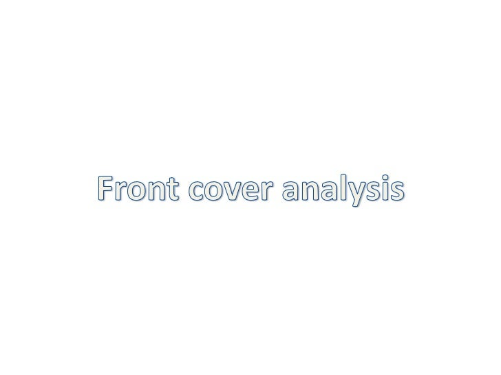 Front cover analysis<br />