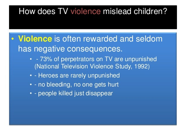 many research proves negative effects of media violence to children Research shows violent media do not cause violent behavior  support seemed to be protective of these negative behaviors  a greater effect on younger children .