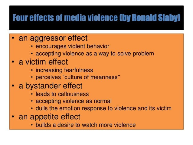 media violence and its effect on Media violence and its effect on children - there is a strong agreement among american society that violence in the country is on the rise it is easy to see why this is a strong argument.