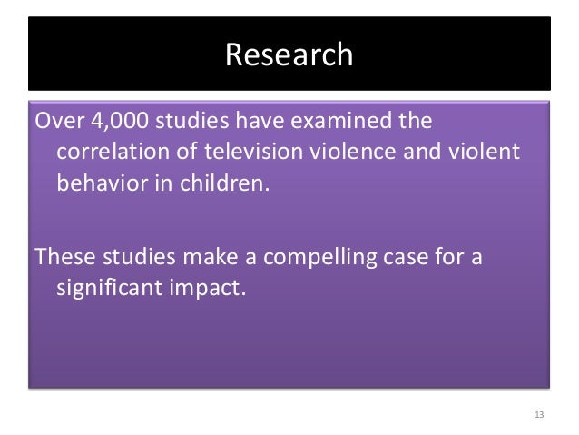 The effects of tv violence