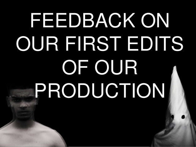 Media presentation  - Feedback Slide 2