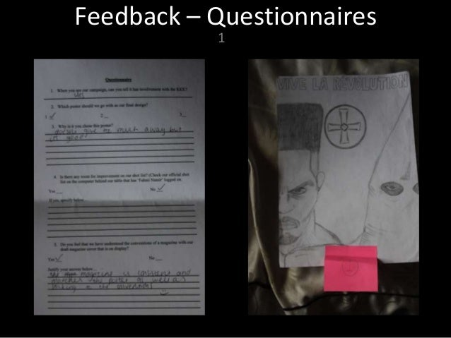 Media presentation  - Feedback Slide 3