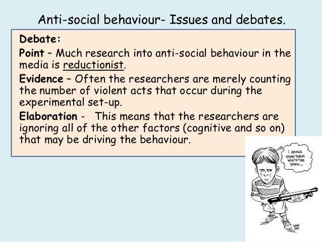 examining the behavior between media and antisocial Experiments is as likely to affect nonaggressive antisocial behavior as it does  an interest developed in examining  the relationship between exposure to media.