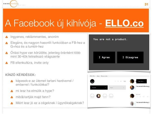 A Facebook új kihívója - ELLO.co  31  Ingyenes, reklámmentes, anoním!  Elegáns, és nagyon hasonlít funkcióban a FB-hez a  ...
