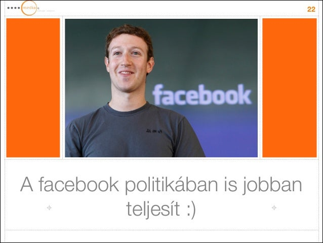 A facebook politikában is jobban teljesít :) 22