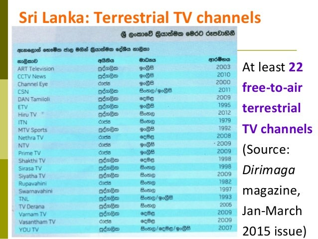 Media Reforms in Sri Lanka - Some Big Picture Ideas by