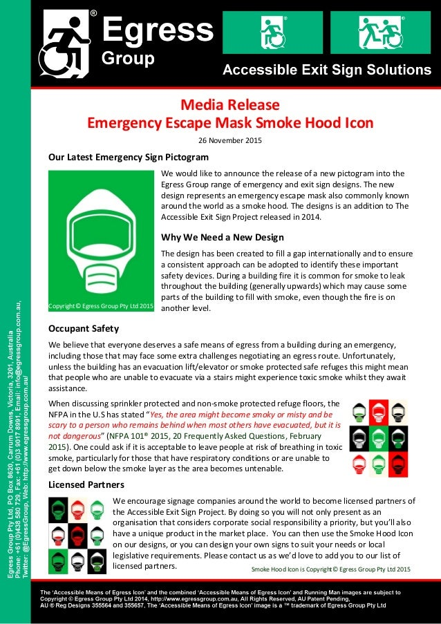 Our Latest Emergency Sign Pictogram We would like to announce the release of a new pictogram into the Egress Group range o...