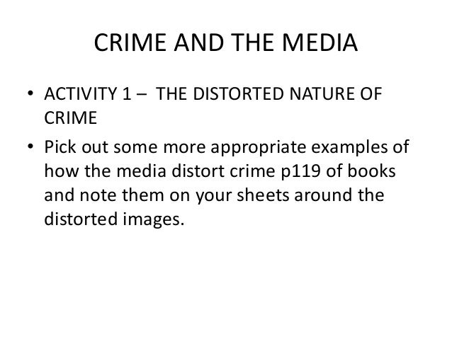 media and statistical representations of crime This research investigated the effects of the media on attitudes toward police and fear of crime (bureau of justice statistics, 2005) another type of media bias toward school violence was observed by between the media and fear of crime while including the various control variables.