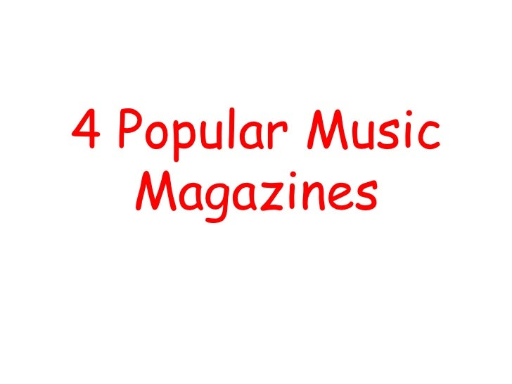 4 Popular Music   Magazines