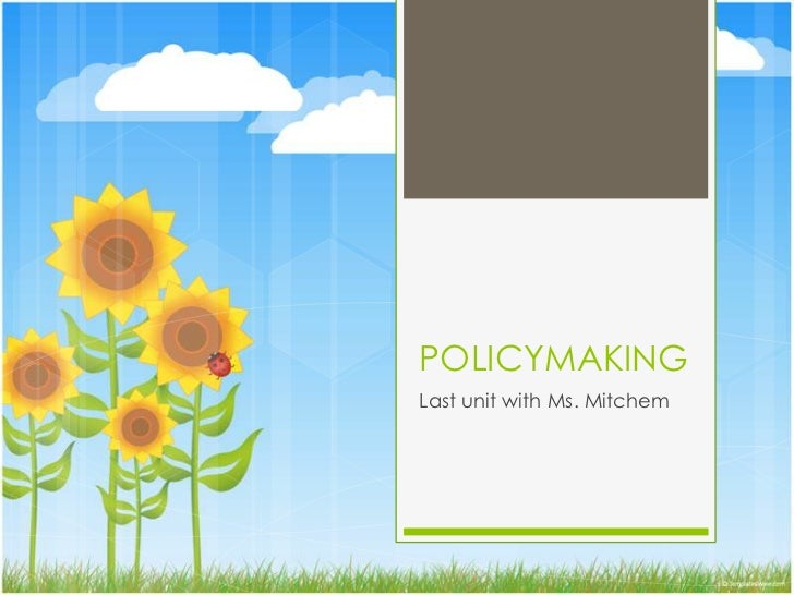 policymaking and the media This article discusses the challenges posed to media policymaking and its main  protagonists by media convergence, broadly defined here as the growing.