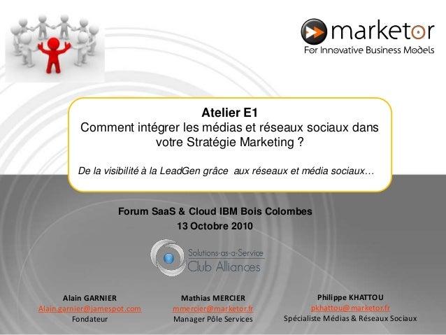 Philippe KHATTOU pkhattou@marketor.fr Spécialiste Médias & Réseaux Sociaux Mathias MERCIER mmercier@marketor.fr Manager Pô...