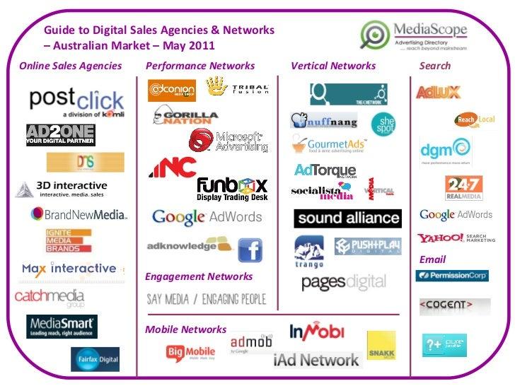Guide to Digital Sales Agencies & Networks  –  Australian Market – May 2011 Online Sales Agencies Performance Networks Sea...