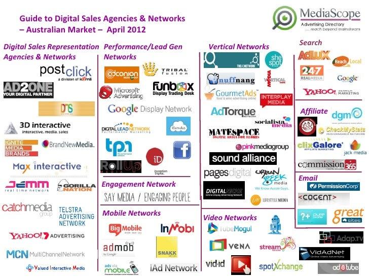 Guide to Digital Sales Agencies & Networks    – Australian Market – April 2012                                            ...